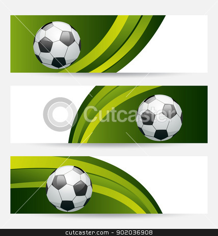 Set football cards with place for your text stock vector clipart, Illustration set football cards with place for your text - vector by -=Mad Dog=-
