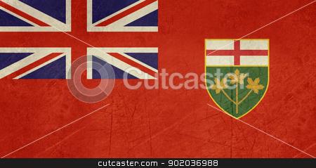 Grunge Ontario state flag stock photo, Illustration of grunge Ontario state flag, Canada. by Martin Crowdy