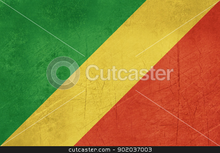 Grunge Republic of the Congo stock photo, Grunge sovereign state flag of country of Republic of the Congo in official colors. by Martin Crowdy