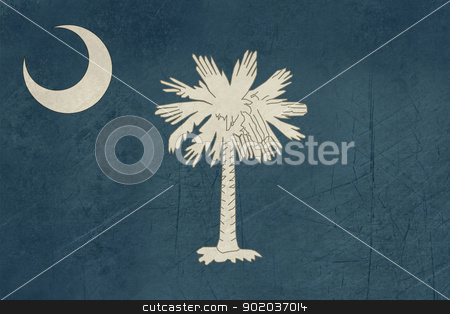 Grunge South Carolina state flag stock photo, Grunge South Carolina state flag of America, isolated on white background. by Martin Crowdy