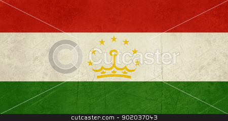 Grunge Tajikistan Flag stock photo, Grunge Sovereign state flag of country of Tajikistan in official colors.  by Martin Crowdy