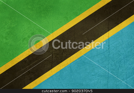 Grunge Tanzania Flag stock photo, Grunge Sovereign state flag of country of Tanzania in official colors.  by Martin Crowdy