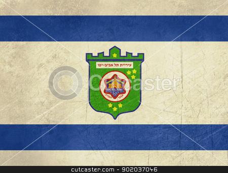 Grunge Tel Aviv flag stock photo, Grunge illustration of city of Tel Aviv map from Israel. by Martin Crowdy
