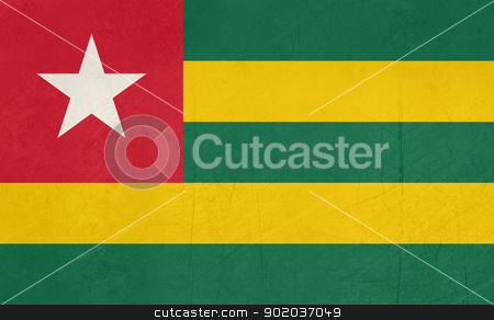 Grunge Togo Flag stock photo, Grunge sovereign state flag of country of Togo in official colors. by Martin Crowdy