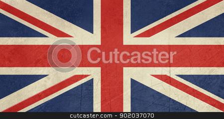 Grunge United Kingdom Flag stock photo, Grunge United Kingdom Flag or Great Britain Union Jack. by Martin Crowdy