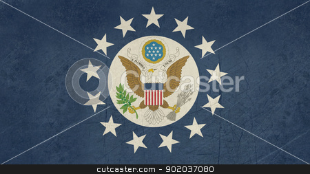 Grunge US Ambassador flag stock photo, Grunge offical flag of an ambassador from the United States of America. by Martin Crowdy
