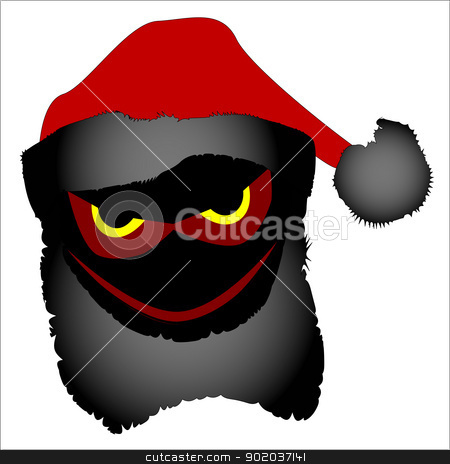 Evil Santa stock vector clipart, The alter ego of Father Christmas, an evil Santa. by Kotto
