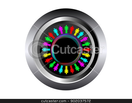 work force colorful business work team concept sign vector illustration in black button stock vector clipart, work force colorful business work team concept sign vector illustration in black button by vician