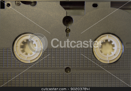 VHS tape stock photo, Back of an old VHS tape  by ManuelS
