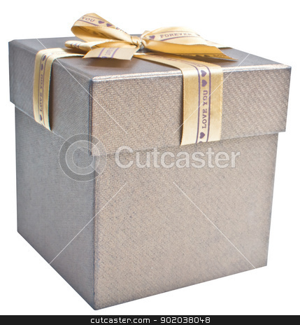 gift box isolated on white background stock photo, gift box isolated on white background by vician