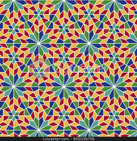 Arabesque seamless pattern stock vector clipart, Arabesque seamless pattern in editable vector file by paulrommer