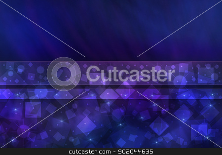 Bright blue abstract background stock photo, Bright blue abstract background with bokeh and stars. by lermannika