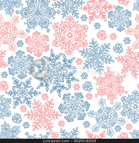 Seamless snowflakes pattern for winter themed designs. Vector il stock photo, Seamless snowflakes pattern for winter themed designs. Vector illustration, EPS8 by pashabo