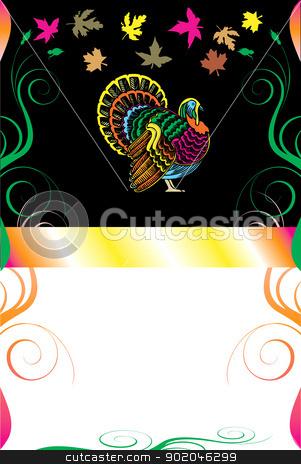 Thanksgiving Background 8 stock vector clipart, Vector Illustration of a Thanksgiving Background with Thanksgiving Turkey. by Basheera Hassanali