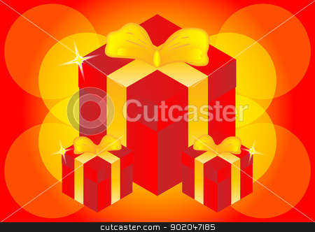 beautiful gift boxes  stock photo, gift boxes bright color for celebration festival  by Cherdchoosak Ngernsiam