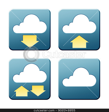 cloud signs stock photo, A set of some nice and modern cloud signs with clipping path by Markus Gann