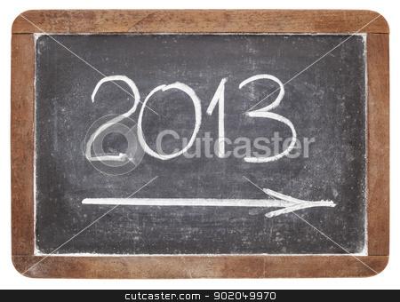 2013 year on blackboard stock photo, incoming 2013 year - white chalk on vintage slate blackboard by Marek Uliasz
