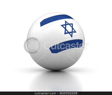 Israeli Volleyball Team stock photo, Israeli Volleyball Team (isolated with clipping path) by bosphorus