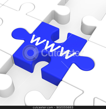 WWW Puzzle Shows Internet And Websites stock photo, WWW Puzzle Shows Internet, Websites And World Wide Web by stuartmiles