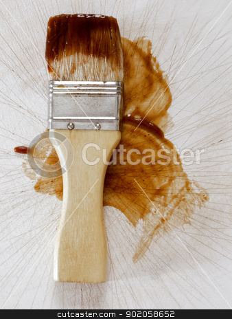 barbecue sauce basting brush stock photo, close up of a barbecue sauce basting brush by zkruger