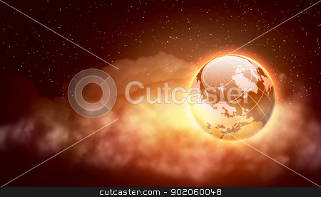 World christmas ball stock photo, Earth symbol of the new year on our planet. Happy New Year and Merry Christmas by Sergey Nivens