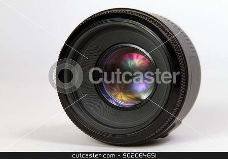 photographic lens stock photo, 50 mm photographic lens against white background by Paulo M.F. Pires