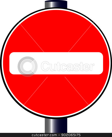 Stop stock vector clipart, A large round red traffic stop sign by Kotto