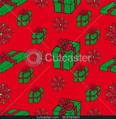 Seamless background Xmas gifts stock vector clipart, Seamless background Xmas gifts - vector illustration. by connynka