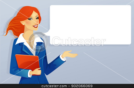 Businesswoman stock vector clipart, Vector illustration of Businesswoman by SonneOn