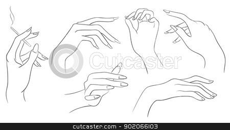 women hands stock vector clipart, Vector illustration of women hands by SonneOn