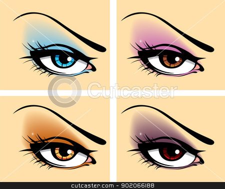 Set of eyes stock vector clipart, Vector illustration of Set of eyes by SonneOn