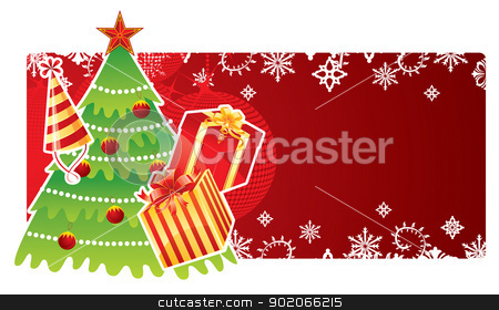 Christmas banner stock vector clipart, Vector illustration of Christmas banner by SonneOn
