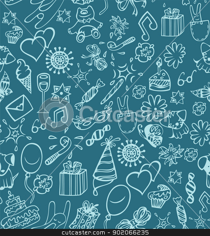 Happy birthday pattern stock vector clipart, Happy birthday pattern by SonneOn