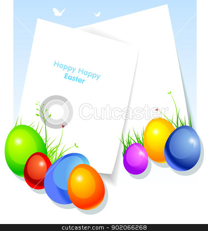 Pic with eggs stock vector clipart, Vector illustration of Pic with eggs by SonneOn