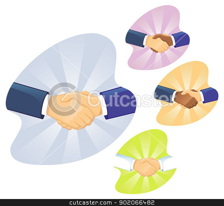 Handshake two men stock vector clipart, Vector illustration of Handshake two men by SonneOn