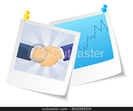 Photo frame of business stock vector clipart, Vector illustration of Photo business by SonneOn
