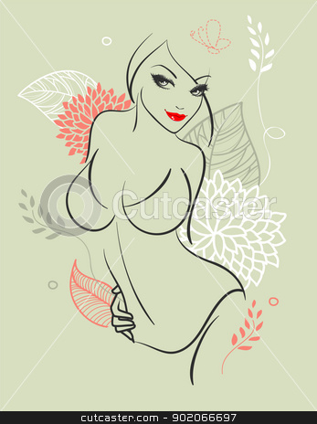Beauty woman stock vector clipart, Beauty woman by SonneOn