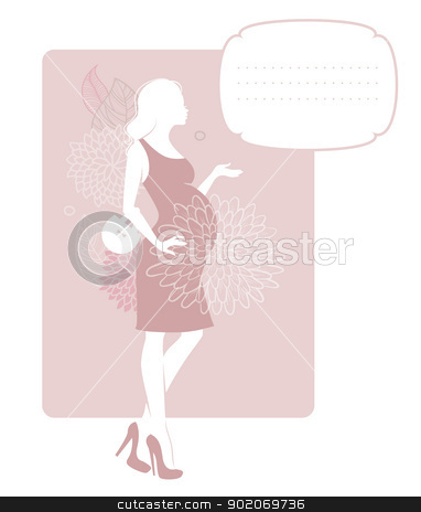 Pregnant silhouette woman  stock vector clipart, Vector illustration of Pregnant silhouette woman  by SonneOn