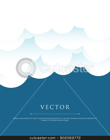 Stylized sky with clouds stock vector clipart, Vector illustration of Stylized sky with clouds by SonneOn