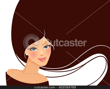 Beauty woman pic  stock vector clipart, Vector illustration of Beauty woman pic  by SonneOn