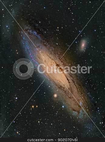 M31 Andromeda Galaxy stock photo, M31 Andromeda Galaxy by Reinhold Wittich