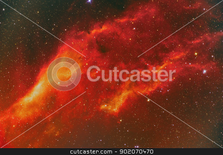 NGC 1499 California Nebula stock photo, NGC 1499 California Nebula by Reinhold Wittich
