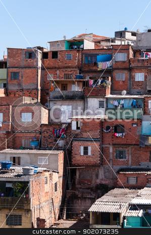 Shacks in the slum in Sao Paulo stock photo, Shacks in the slum in a poor neighborhood of Sao Paulo by Aurelio Scetta