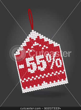 55 percent discount price tag stock vector clipart, 55 percent discount price tag isolated on background by Natashasha