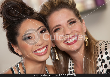 Two Beautiful Lady Friends stock photo, Two beautiful female friends together in close up by Scott Griessel