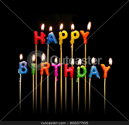 Happy Birthday Candles stock photo, A photo of happy birthday candles by Tornelli Stefano