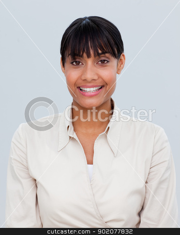 Portrait of a smiling Afro-American businesswoman stock photo, Portrait of a smiling Afro-American young businesswoman by Wavebreak Media