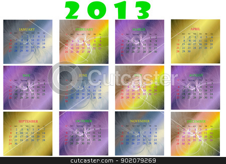 Calendar for 2013 new year stock photo, Calendar for 2013 new year by tanu666a