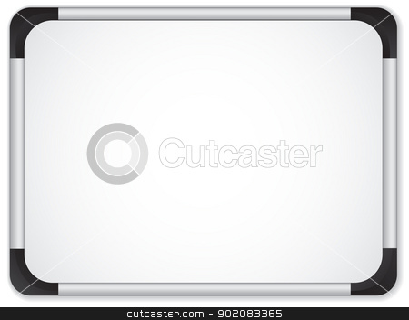 Whiteboard Metal Border. Insert your message stock vector clipart, Vector - Whiteboard Metal Border. Insert your message by Augusto Cabral Graphiste Rennes