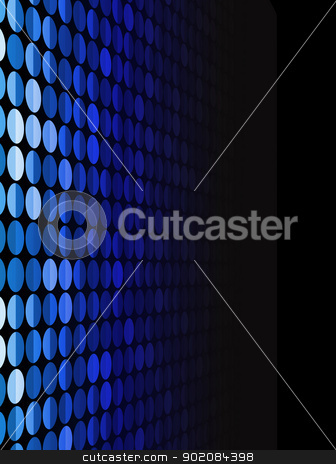 Halftone Background in Perspective.  stock vector clipart, Halftone Background in Perspective. Editable Vector Background by Augusto Cabral Graphiste Rennes